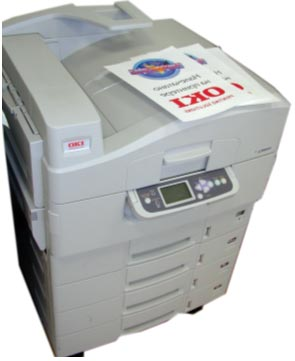 OKI C9800 LED color printer for thermal transfer
